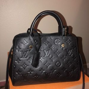 NWT Louis Vuitton Noir Montaigne BB